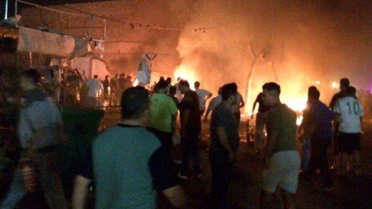 تصویر انفجار تروریستی در غرب بغداد