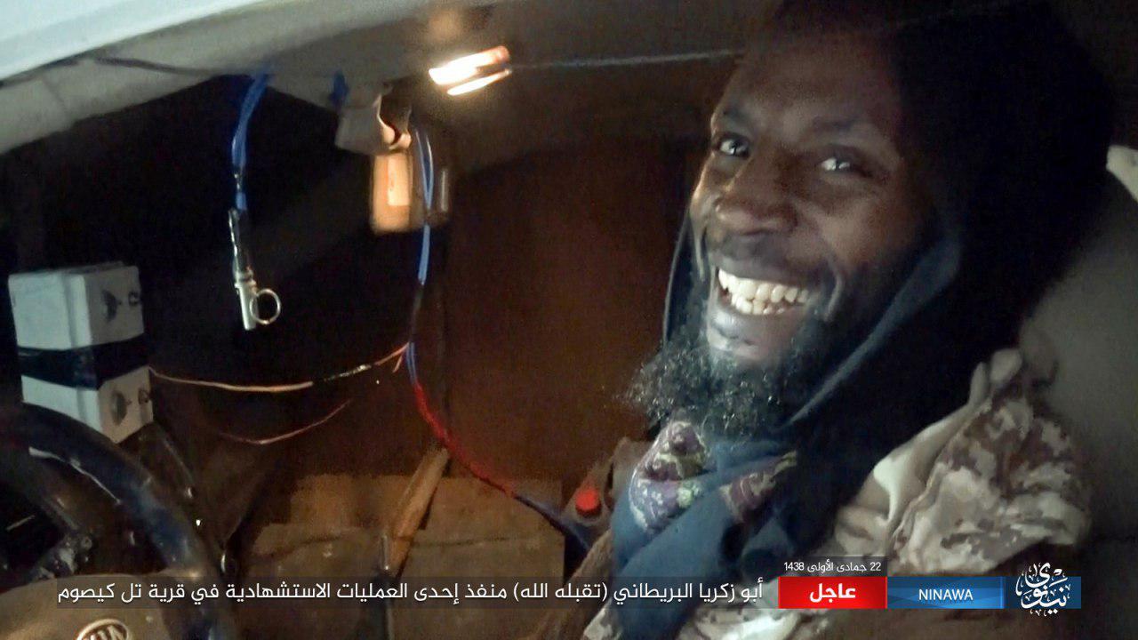 تصویر عملیات انتحاری داعشی انگلیسی در موصل