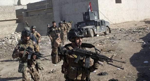 تصویر ادامه پیشروی های نیروهای عراقی در غرب موصل