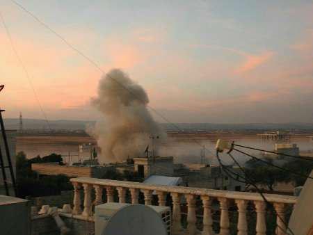 تصویر حمله موشکی به شهر شیعه نشین الزهرا