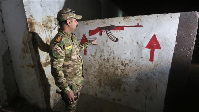تصویر کشف مرکز آموزش زیرزمینی داعش در عمق ۱۵ متری