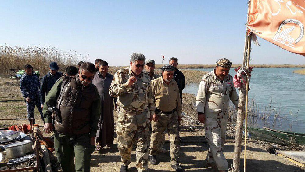 تصویر حمایت پیوسته مراکز تابع مرجعیت از نیروهای حشد الشعبی در موصل