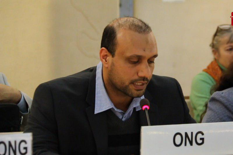 تصویر فریاد داد خواهی شیعیان در شورای حقوق بشر سازمان ملل