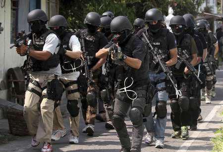 تصویر خنثی سازی یک عملیات تروریستی در اندونزی