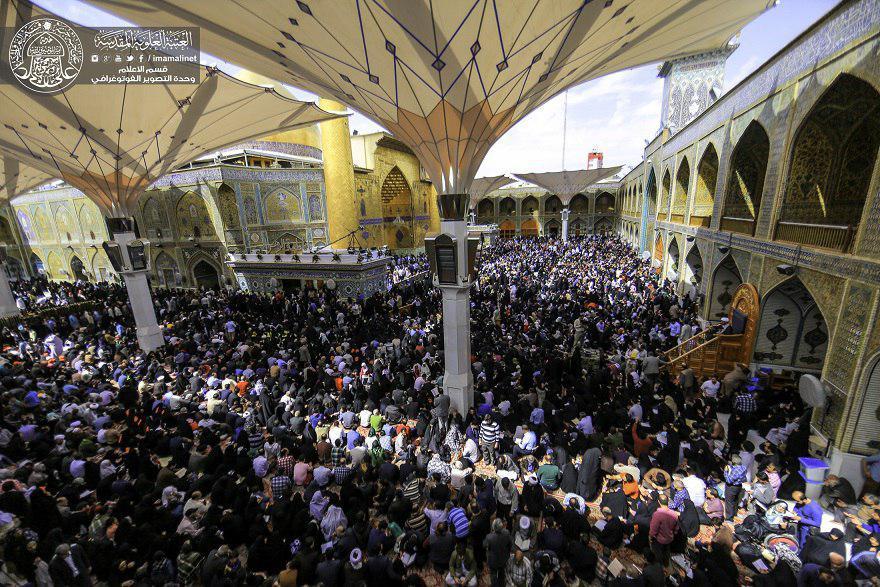 تصویر گزارش تصویری ـ حضور چشمگیر زائران در آستان مقدس علوی در شهر مقدس نجف به مناسبت ایام نوروز