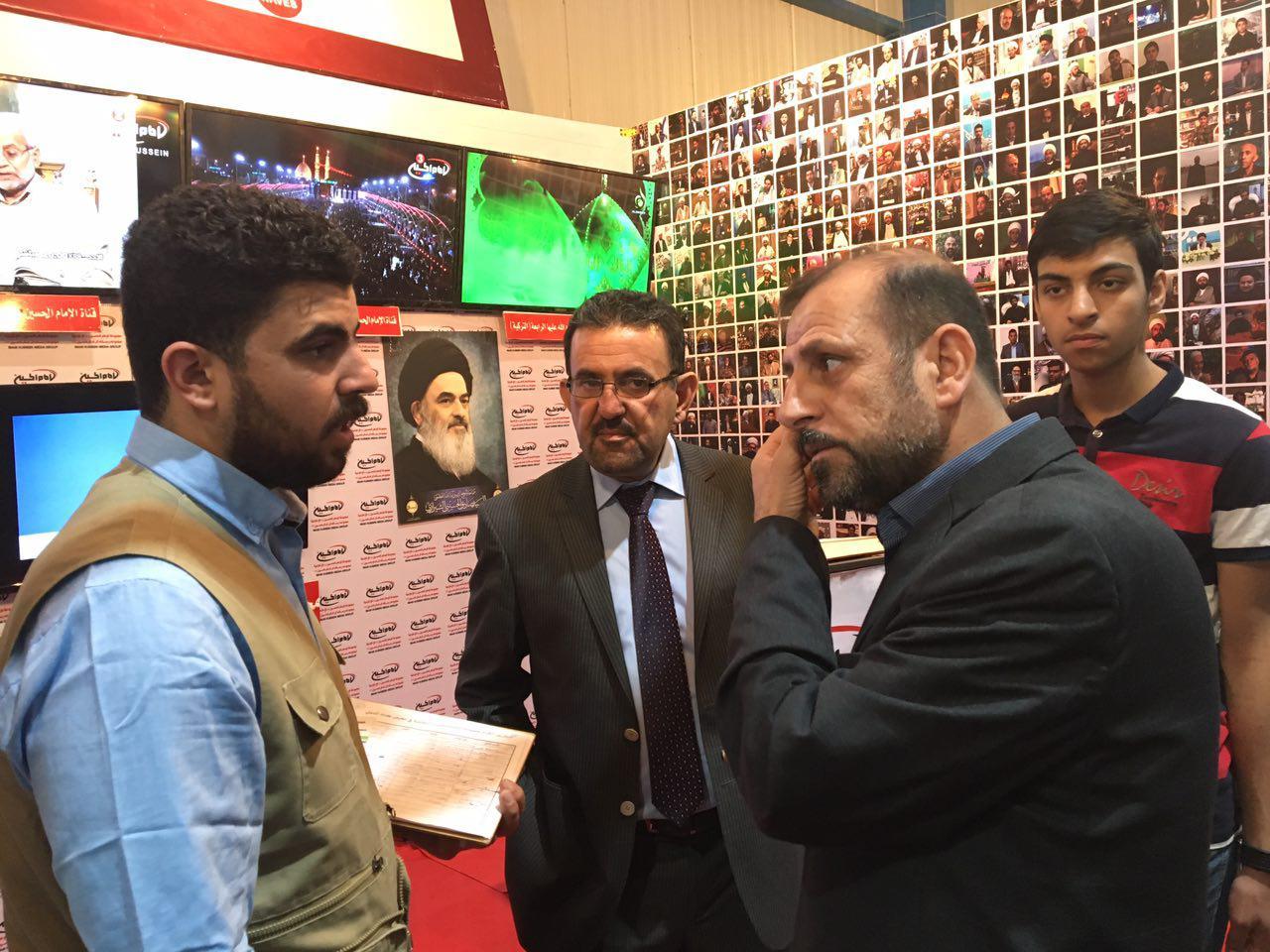 تصویر گزارش تصویری ـ استقبال از غرفه مجموعه رسانه اي امام حسين عليه السلام در چهارمین دوره از نمایشگاه بین المللی کتاب بغداد