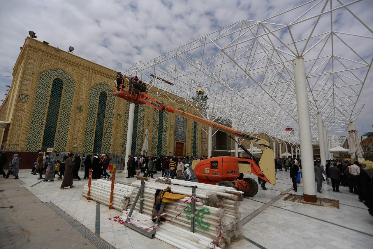 تصویر پروژه سرپوشیده کردن صحن امام حسن مجتبی علیه السلام در آستان مقدس علوی