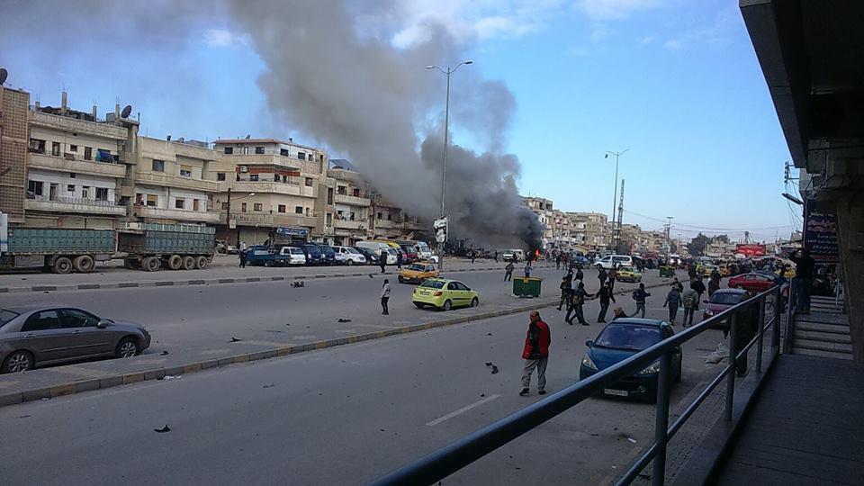 تصویر انفجار تروریستی در حمص