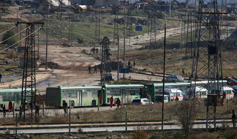 تصویر توافق بر سر خروج شیعیان در مقابل خروج سنی ها در سوریه