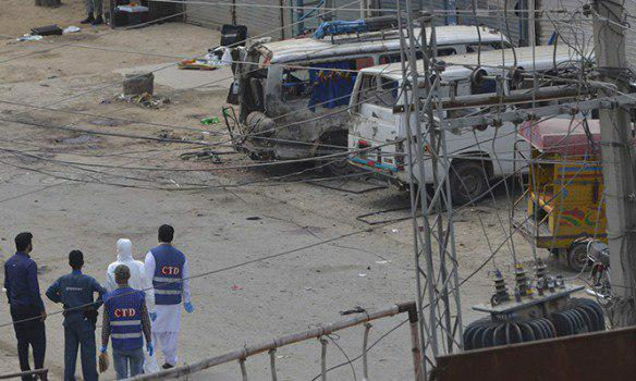 تصویر انفجار تروریستی در لاهور