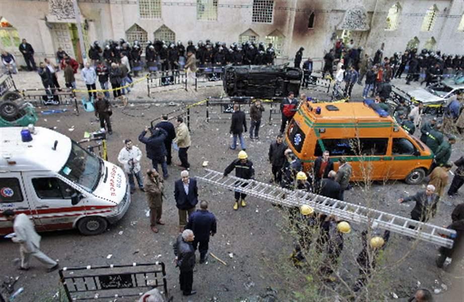 تصویر سازمان جهانی مسلمان آزاده: انفجارهای مصر، دلیلی بر مسلمان نبودن عناصر داعش