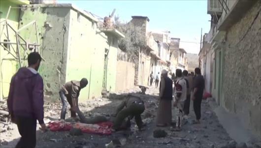 تصویر حمله به غیر نظامیان در موصل