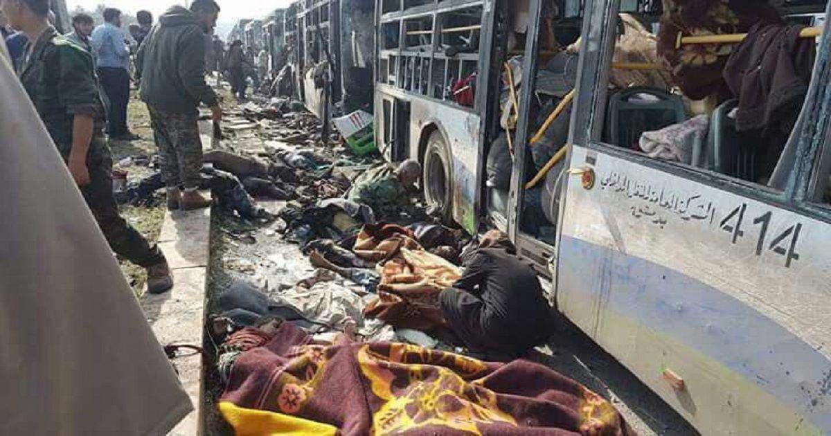 تصویر محکومیت انفجار در محله الراشدین حلب از سوی مرکز جهانی آدم