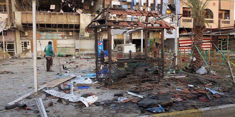 تصویر انفجار بمب در پایتخت عراق