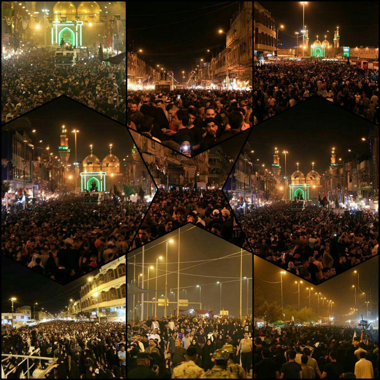 Photo of گزارش تصویری ـ حضور میلیونی زائران و عزاداران «امام موسی کاظم علیه السلام» در شهر مقدس کاظمین، لحظه به لحظه رو به افزایش است.