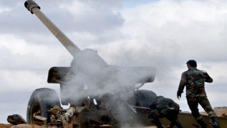 تصویر تسلط ارتش سوریه بر نقاط استراتژیک و چاه های نفت شرق حمص
