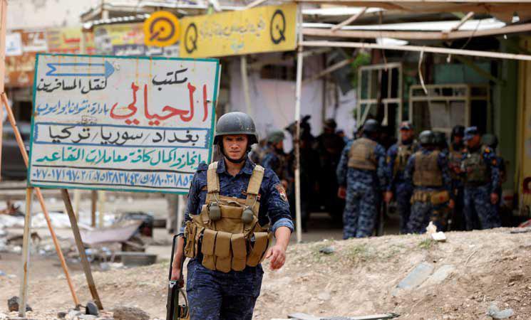 تصویر حمله یک انتحاری به پست بازرسی پلیس در شرق سامرا