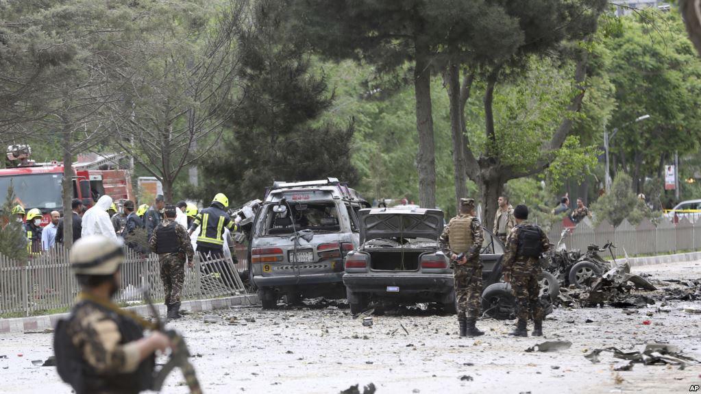 تصویر حمله انتحاری در شهر کابل