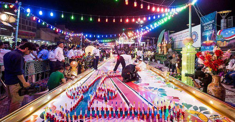 تصویر هزاران شمع روشن،  به مناسبت ولادت با سعادت «امام زمان عجل الله فرجه»، در کربلا
