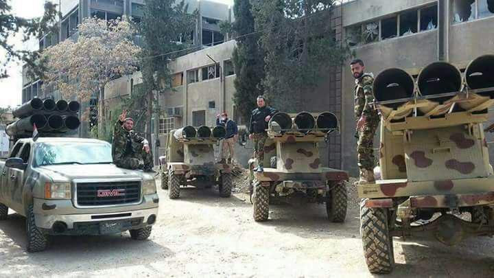 تصویر تسلط ارتش سوريه بر منطقه «القابون» در شمال شرق دمشق