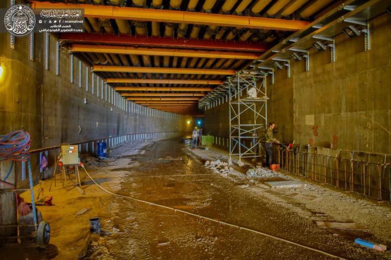 تصویر احداث تونل چند منظوره،  بخشی مهم از پروژه بزرگ صحن حضرت فاطمه عليها سلام، در حرم مطهر علوی
