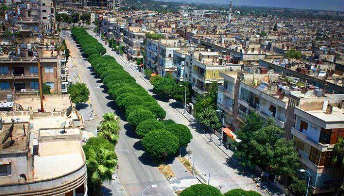 تصویر شهر «حمص» سوریه، امن و خالی از سلاح و افراد مسلح