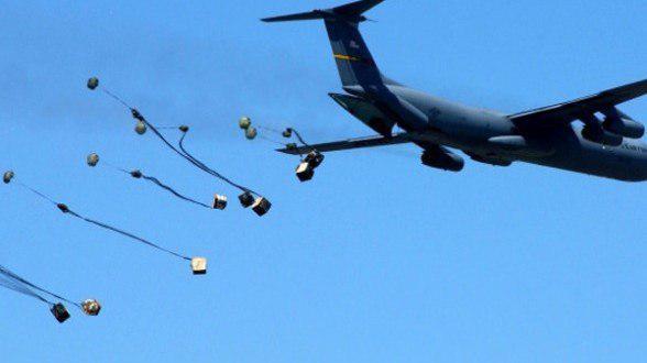 تصویر كمک هواپیماهای ناشناس به داعش