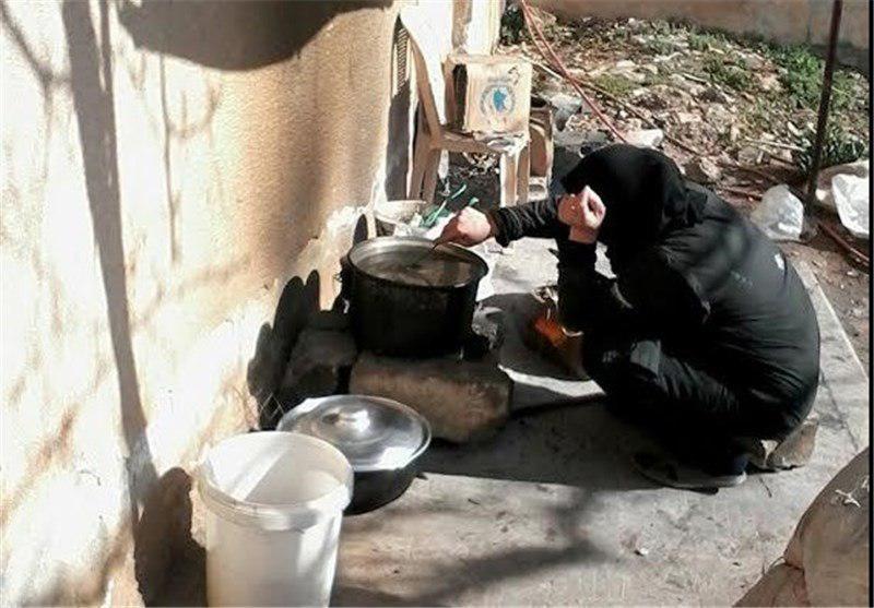 تصویر شرایط سخت و دشوار اهالی شهرهای شیعه نشین فوعه و کفریا در ماه مبارک رمضان