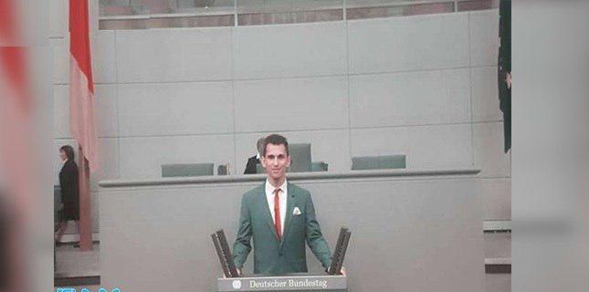 تصویر جوان شیعه پاکستانی عضو افتخاری پارلمان آلمان