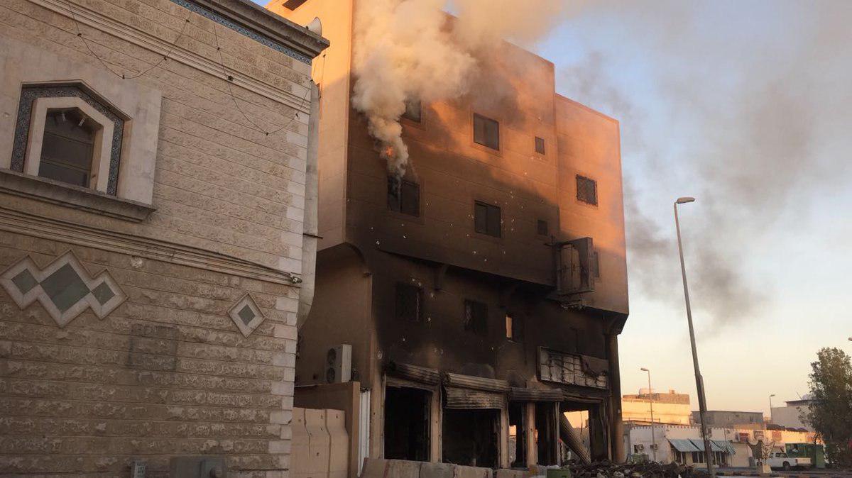 Photo of آتش زدن یک حسینیه توسط نیروهای امنیتی عربستان سعودی