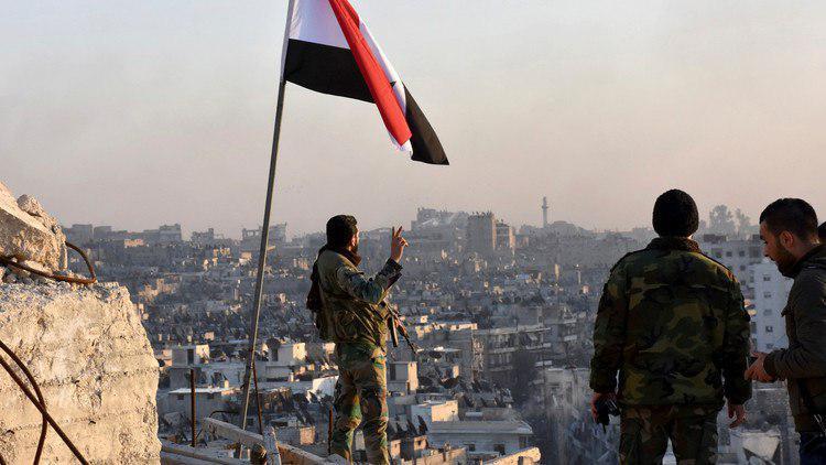 تصویر حضور ارتش سوریه در نقطه مرزی عراق پس از دو سال