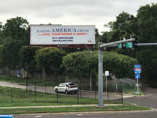 تصویر نصب بیلبوردهای رمضانی در فلوریدا