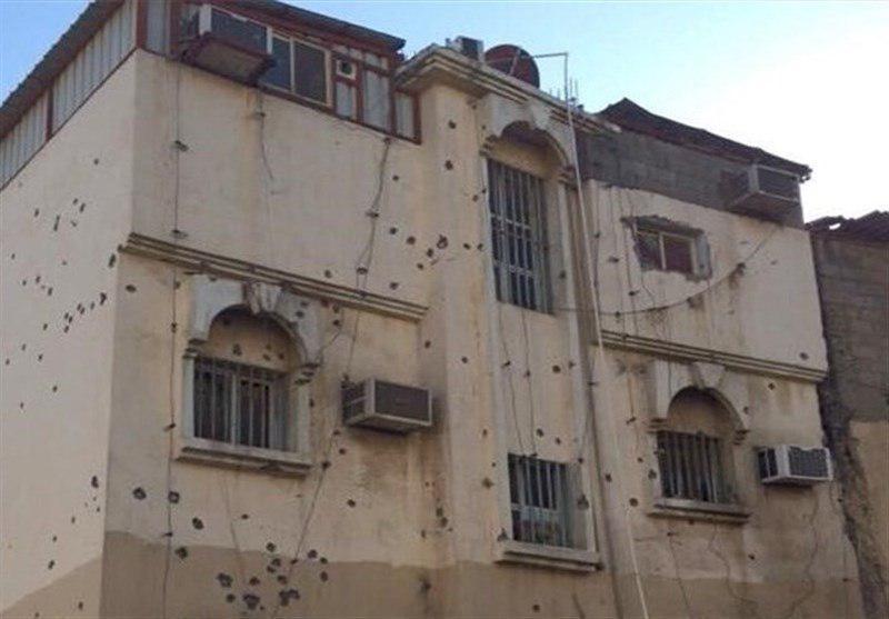 تصویر خانه و کاشانه شهروندان العوامیه هدف گلوله های نیروهای امنیتی سعودی