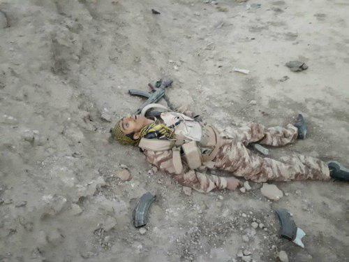 تصویر خنثی شدن حمله انتحاری به شهر سامرا