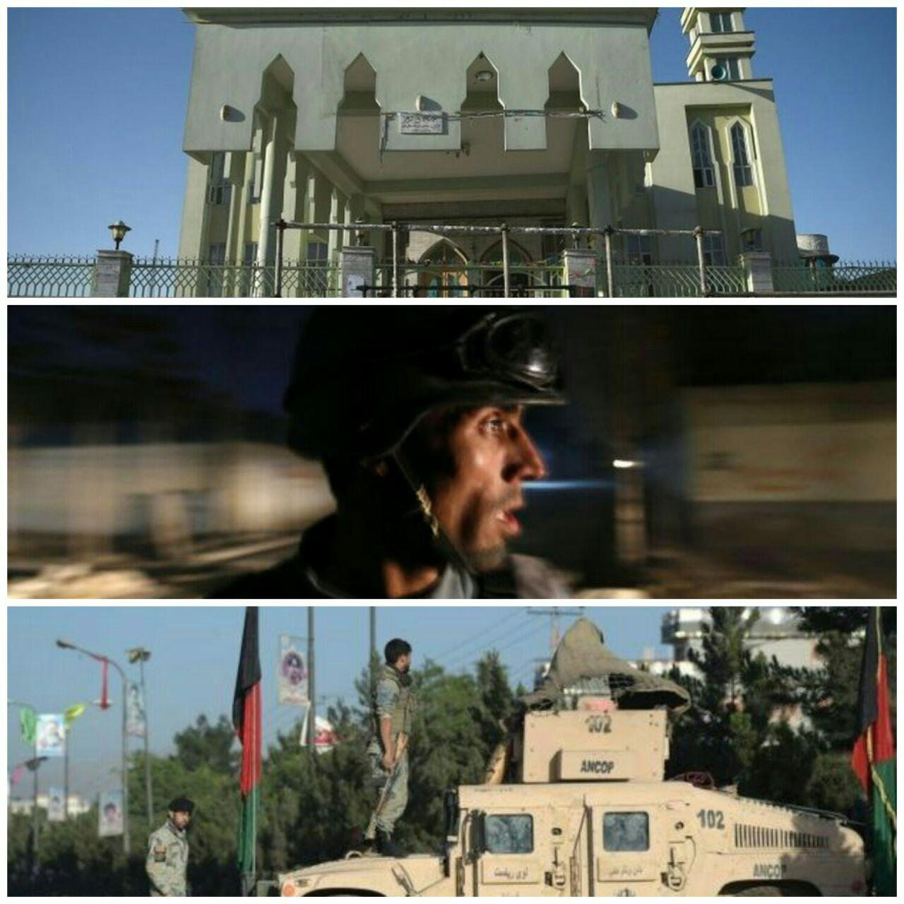 تصویر حمله انتحاری به مسجد مهم شیعیان در غرب کابل