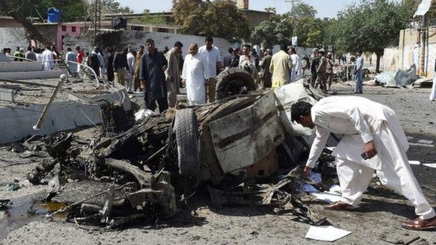 تصویر انفجارهای خونین در پاکستان
