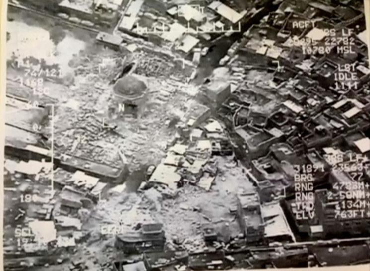 تصویر العبادی: انفجار مسجد تاریخی موصل اعلام رسمی شکست داعش است