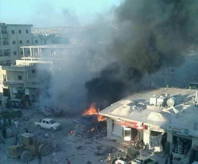 تصویر انفجار در شمال سوریه با بیش از 30 جان باخته و زخمی