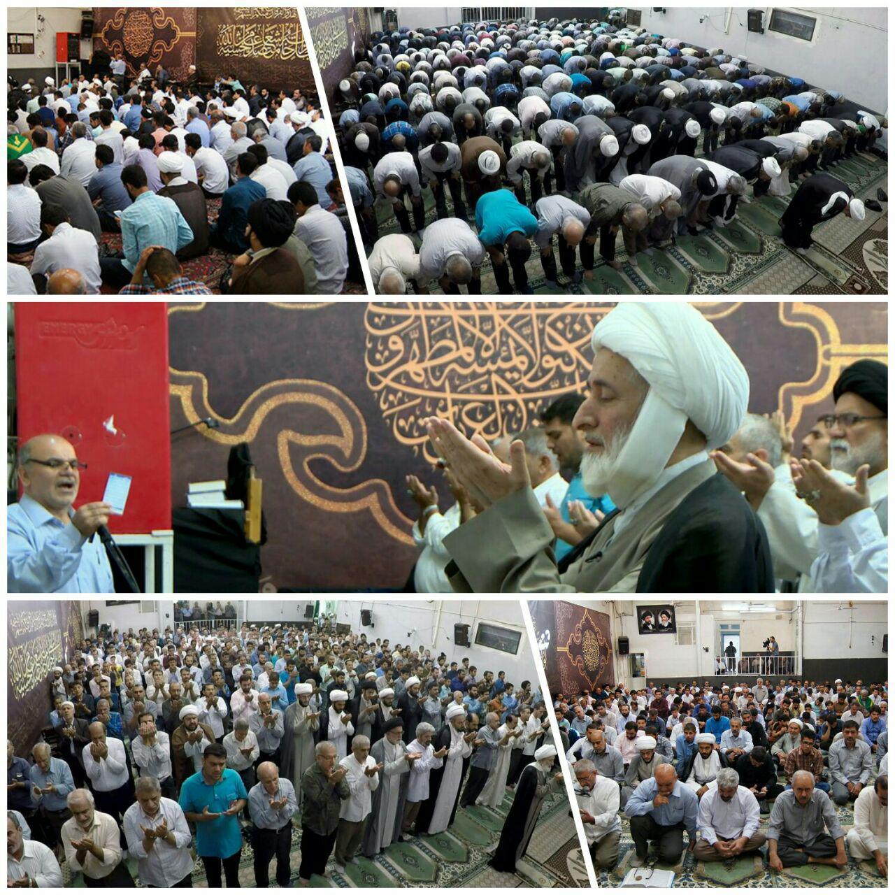 تصویر گزارش تصویری: اقامه نماز عید سعید فطر در بیت حضرت آیت الله العظمی شیرازی