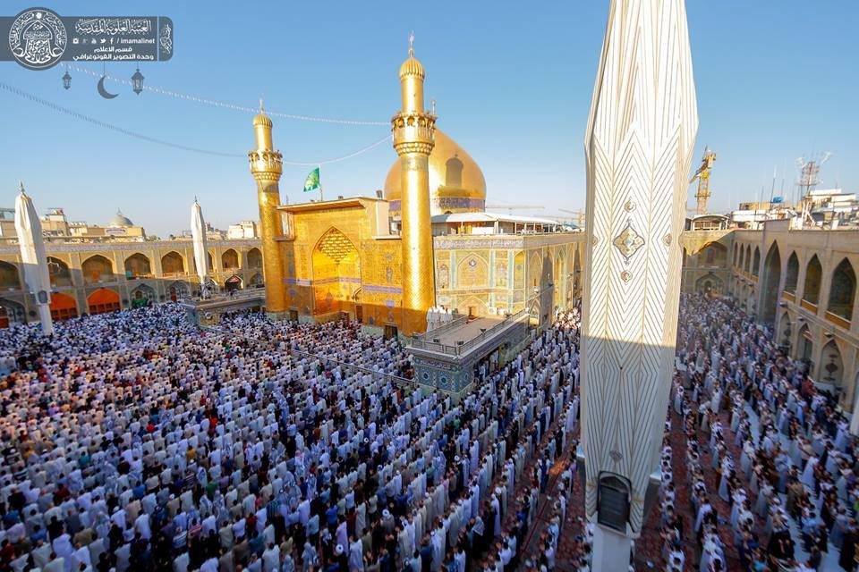 تصویر گزارش تصویری ـ نماز عید سعید فطر در حرم مطهر «امیرالمومنین علی علیه السلام» در شهر مقدس نجف
