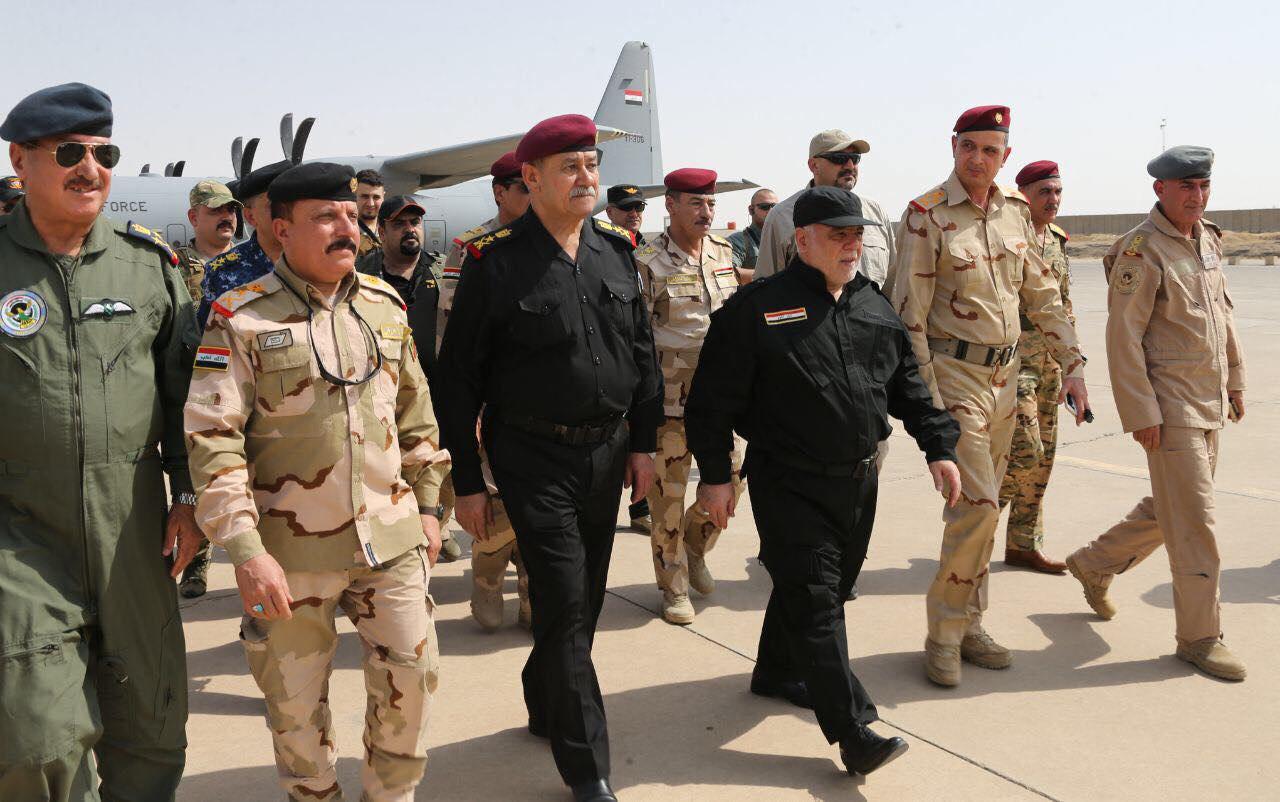 تصویر حضور نخست وزیر عراق در موصل