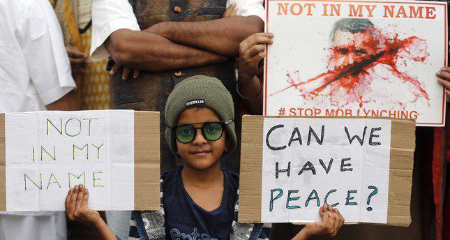 تصویر تظاهرات هزاران هندی در اعتراض به خشونت علیه مسلمانان