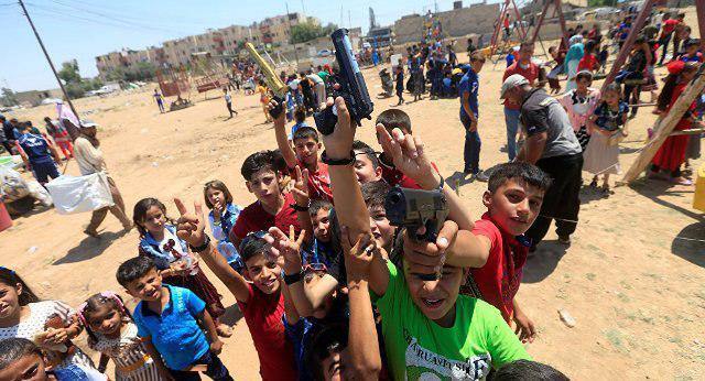 تصویر وضعیت کودکان عراقی در نیمه نخست سال میلادی