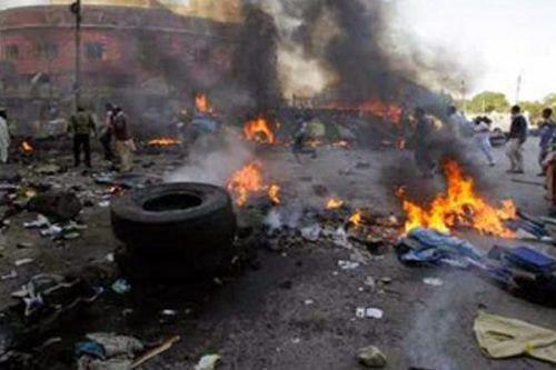 تصویر انفجار یک بمب قوی در نیجریه