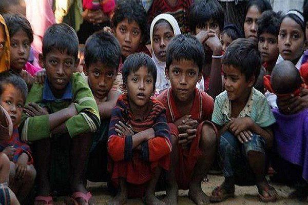 Photo of دهها هزار کودک مسلمان گرسنه میانماری در معرض خطر مرگ