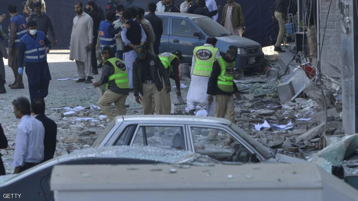 تصویر انفجار انتحاری در لاهور پاکستان