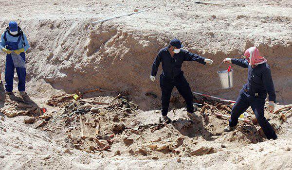 تصویر کشف یک گور دستهجمعی دیگر در شهر موصل