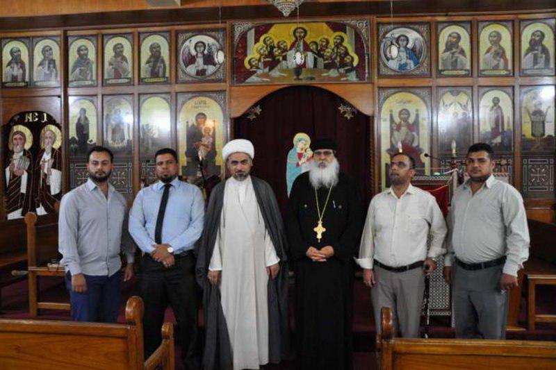 تصویر بازدید نمایندگان آستان مقدس حسینی از کلیساهای قبطی وکلدانی بغداد