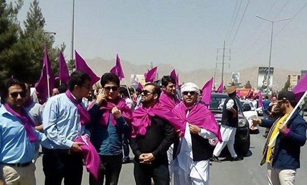 تصویر تظاهراتی مسالمت آمیز در اعتراض به افزایش ناامنی در کابل