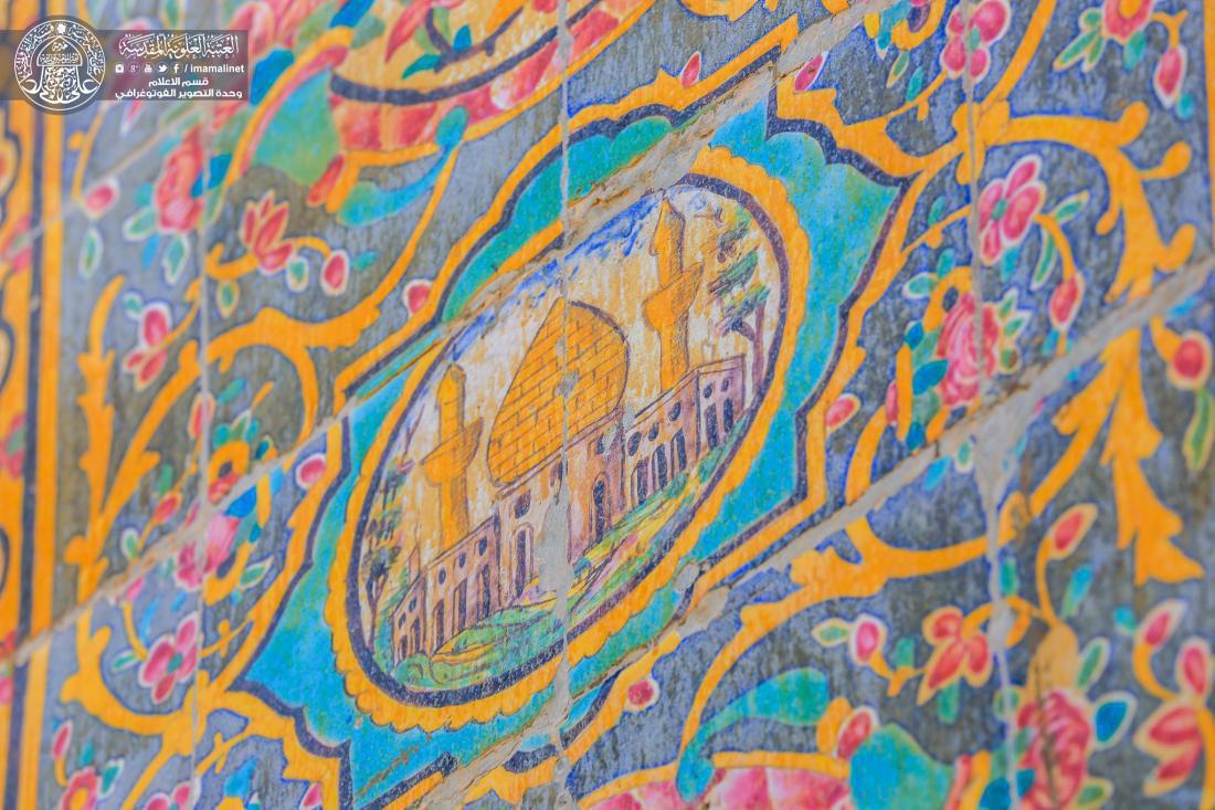 تصویر گزارش تصویری ـ کاشی کاری های تاریخی و بی بدیل حرم مطهر «امیرالمومنین علی علیه السلام» شهر مقدس نجف